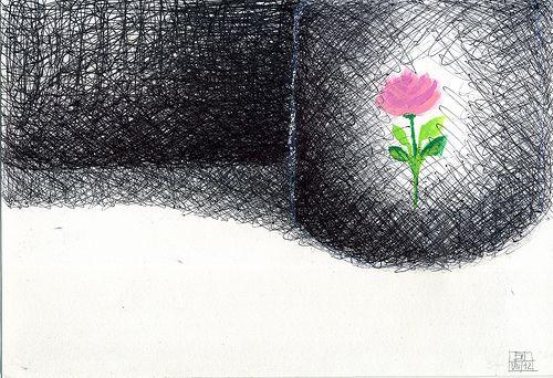 Trama con fiore-  Emilio Nanni 2012