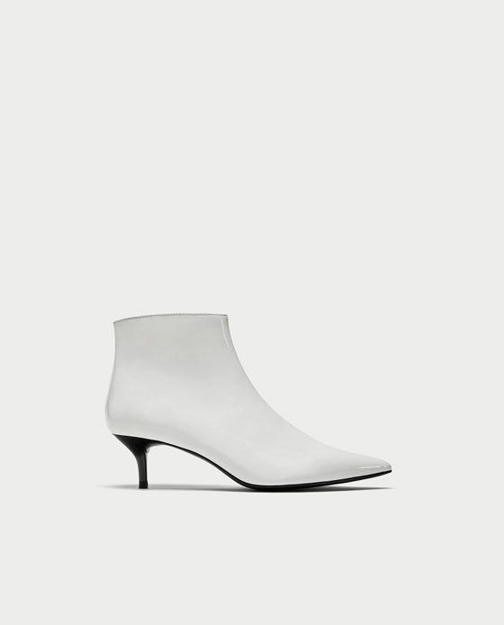 6656b9e6e17 Image 2 of KITTEN HEEL FAUX PATENT ANKLE BOOTS from Zara | Bossbabe ...