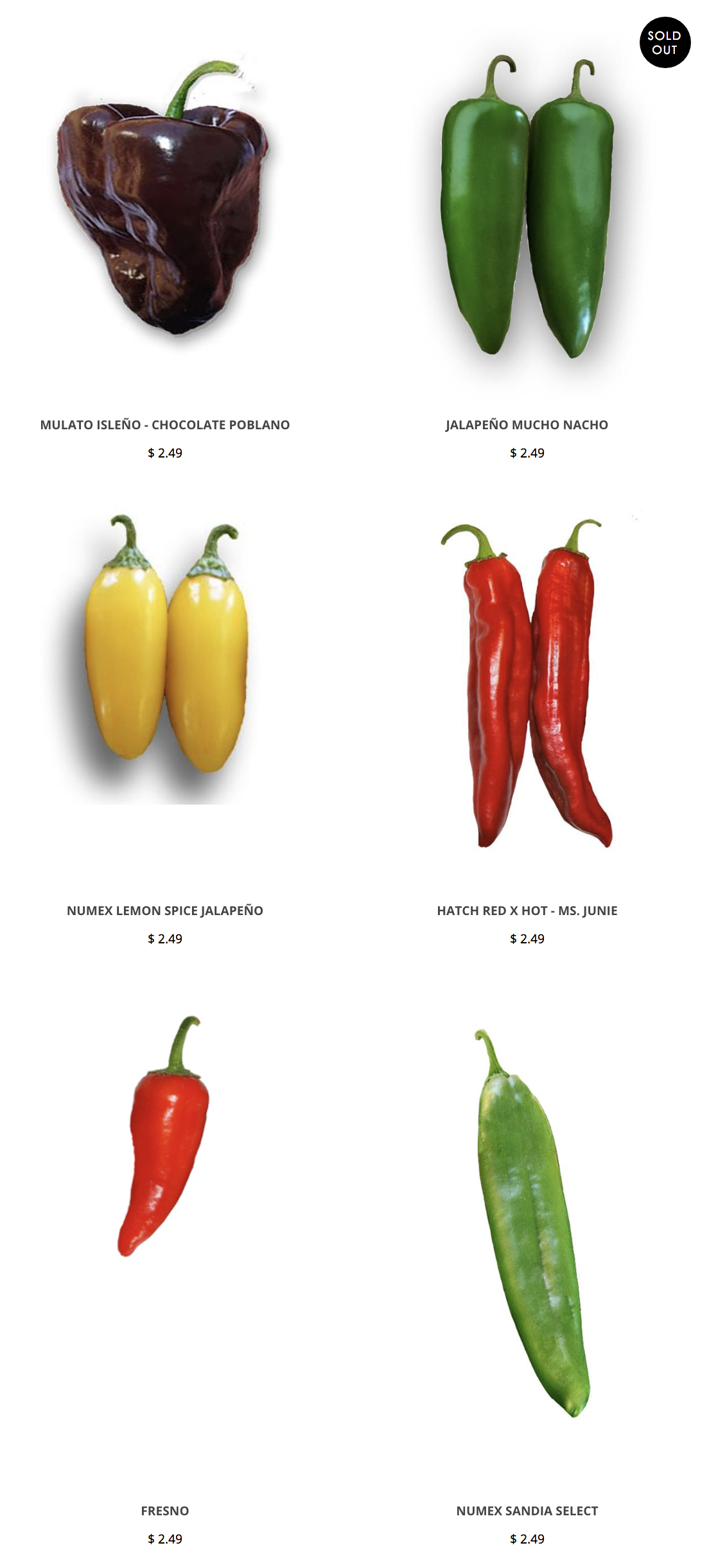 Green Chile Seeds Poblano Seeds Jalapeno Seeds Hatch Chile