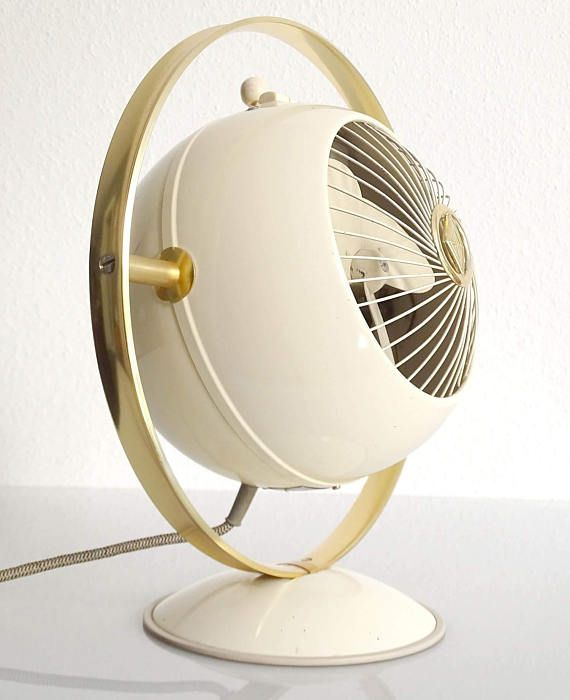 Mid Century Saturn Design Electric Fan 1950s Space Age Electric