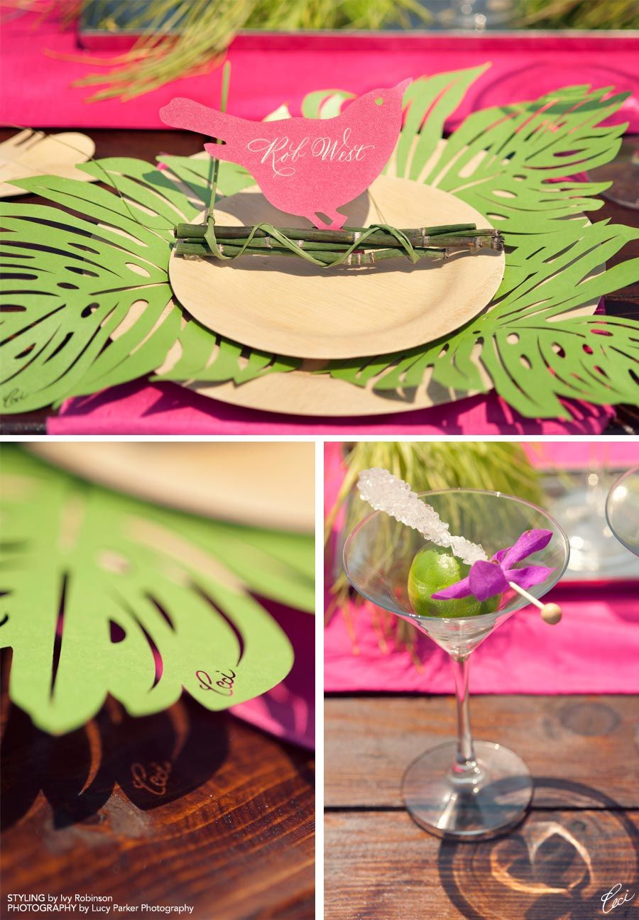 Lasercut Place Cards And Place Mats From Ceci New York Styled By