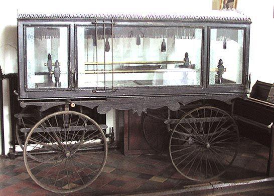 Victorian Glass hearse