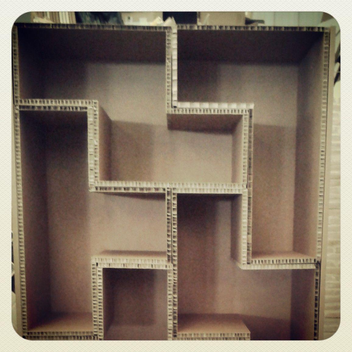 Mueble De Cart N Tetris Muebles Pinterest Muebles De Cart N  ~ Estanterias De Carton Reciclado