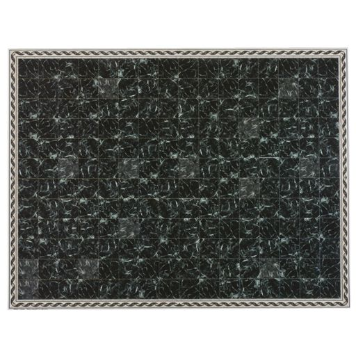 Midnight Faux Marble Flooring Sheet with Border
