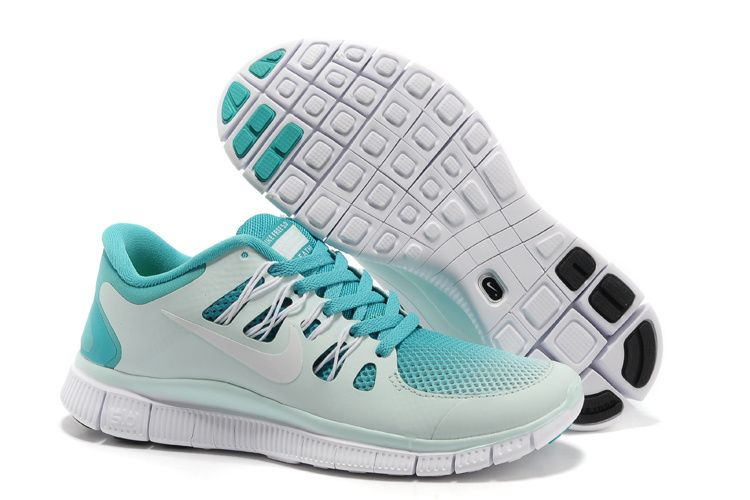 Womens Sport Turquoise White Fiberglass Nike Free 5.0 Breathe Running Shoes  - Click Image to Close
