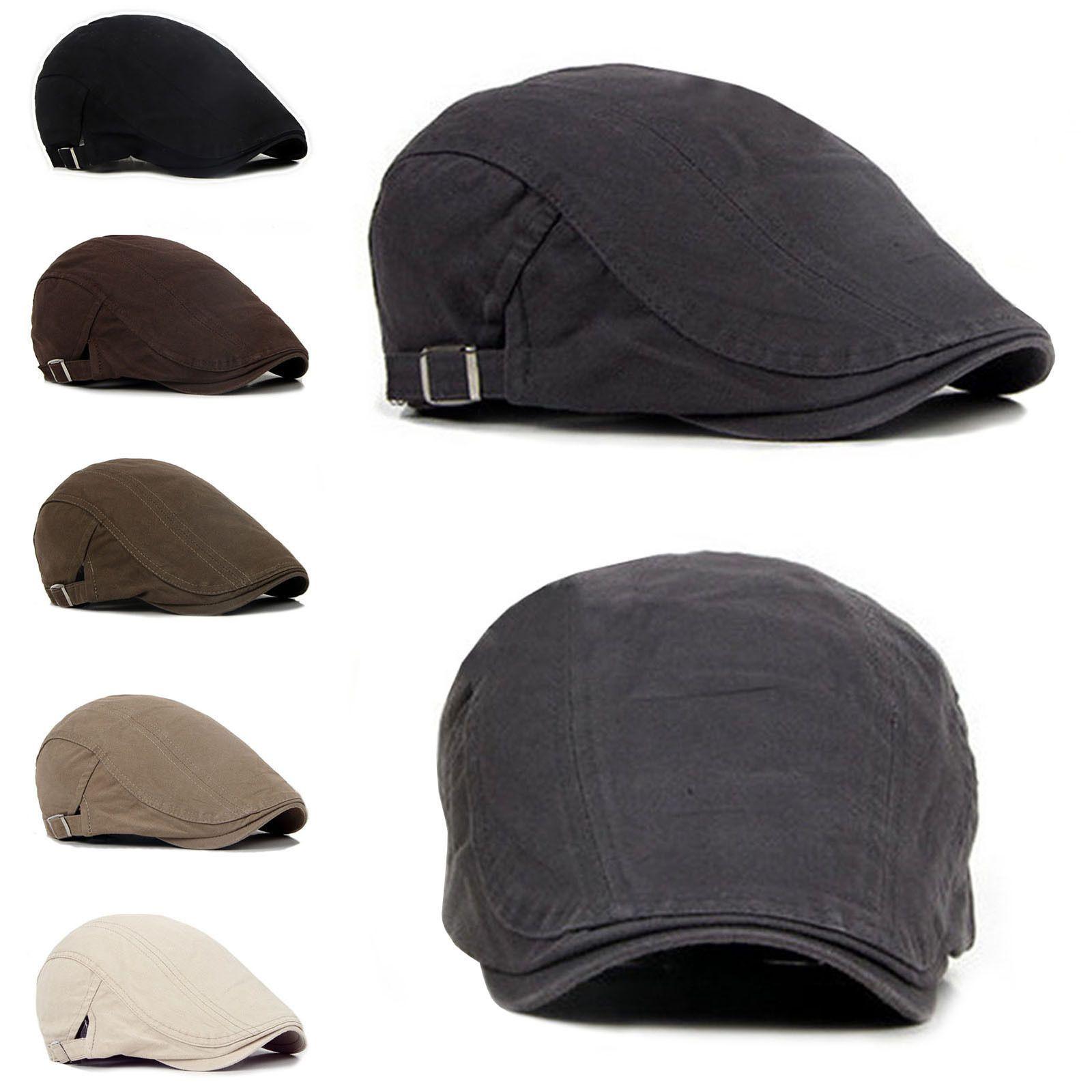 fa20e268434  4.96 - Men s Ivy Hat Berets Cap Golf Driving Sun Flat Cabbiesboy Cap-Fashion