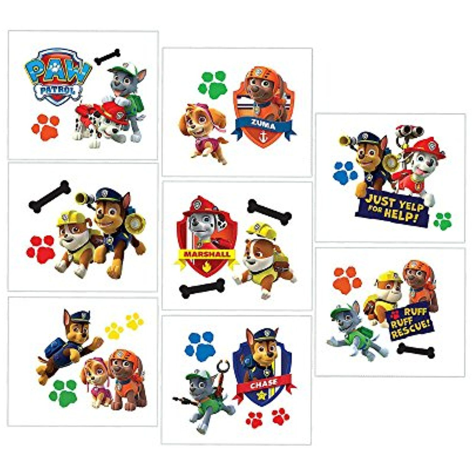 Paw Patrol Puppy Pets Childrens Birthday Party Loot Favor