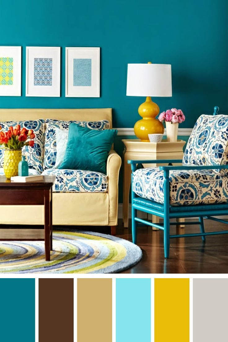 25 Gorgeous Living Room Color Schemes to Make Your Room Cozy , #brightlivingroom #Color #coz...