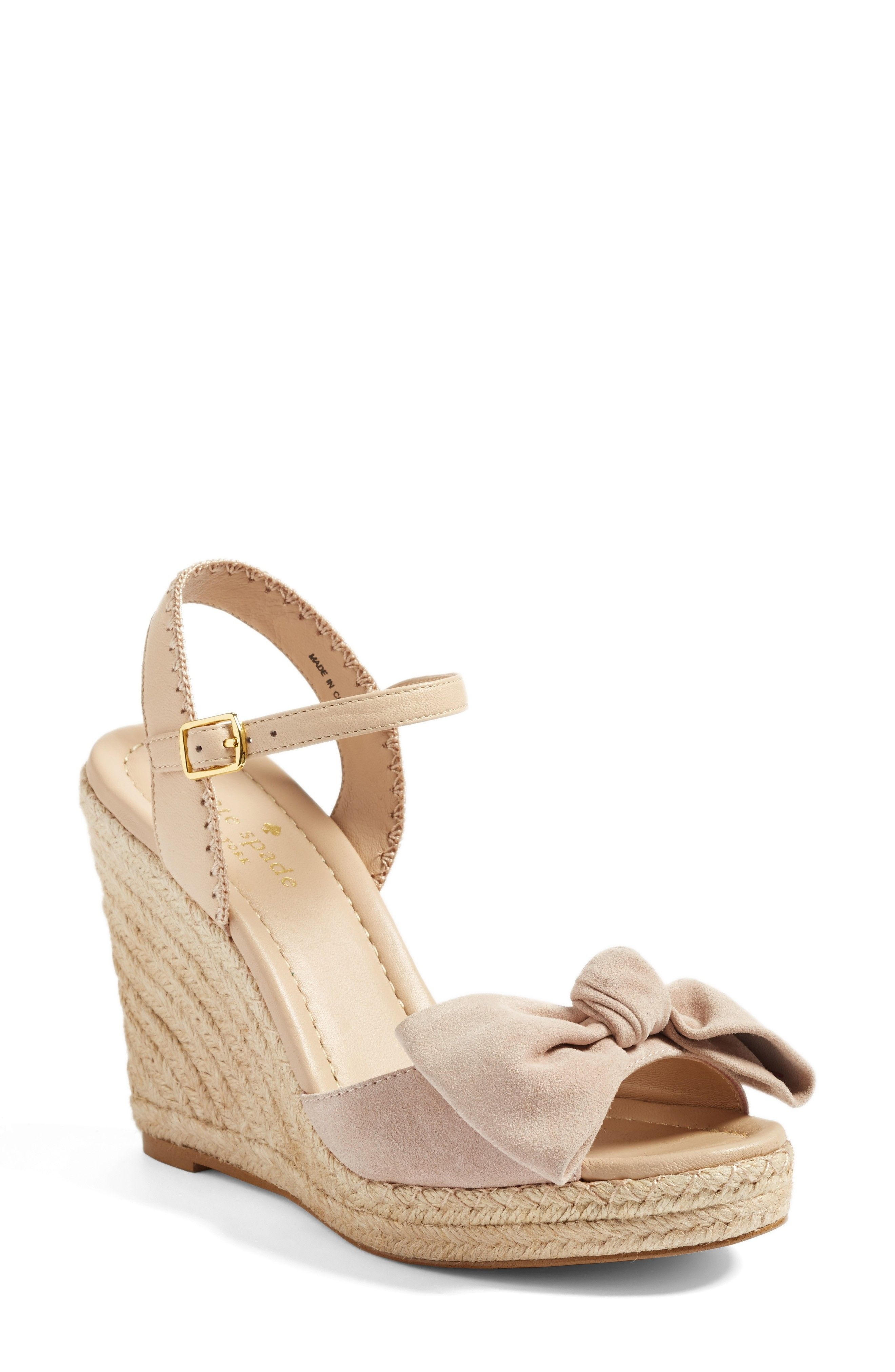 love these bow wedges! in 2019 | Espadrilles, Wedge sandals