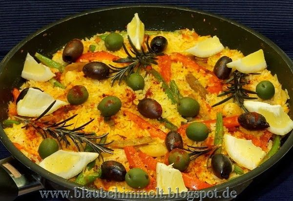 Diese wunderschöne Paella de Verdura gab es bei Susi