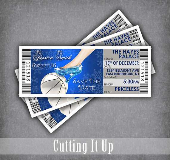 Sweet Basketball Birthday Party Save The Date Ticket Magnets - Save the date ticket template