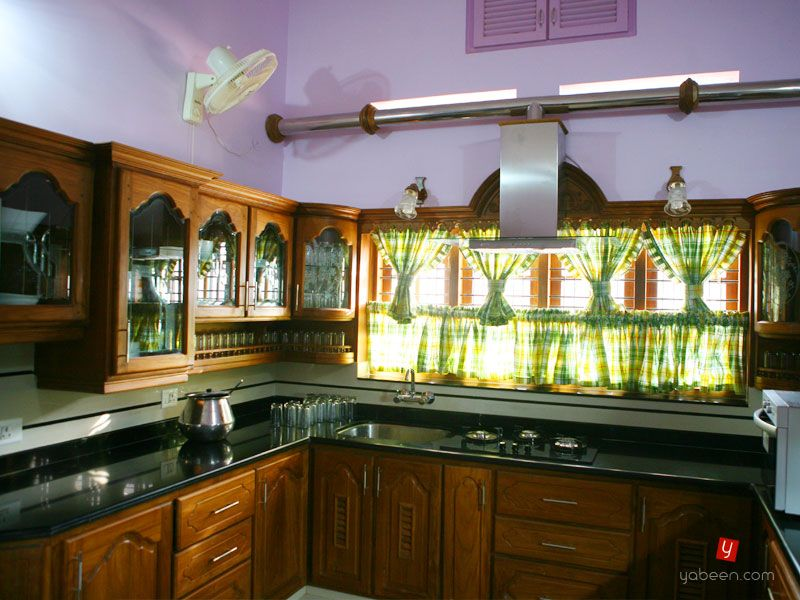 Kitchen kerala style kerala kitchen design cabinets for Kitchen interior design india