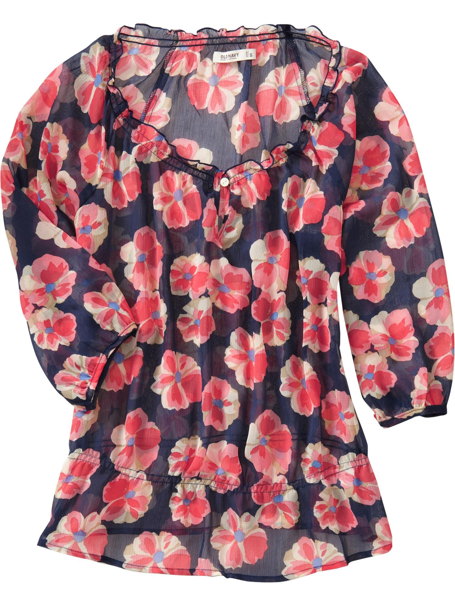 floral-print chiffon blouses from Old Navy   My Style   Pinterest