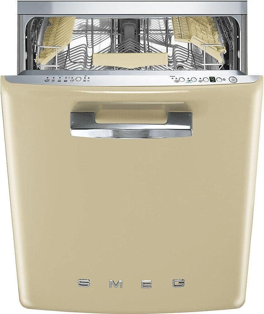 Price:$1,599.00 Smeg 24″ 50s Retro Style Fully Integrated Dishwasher with 13 Place Settings