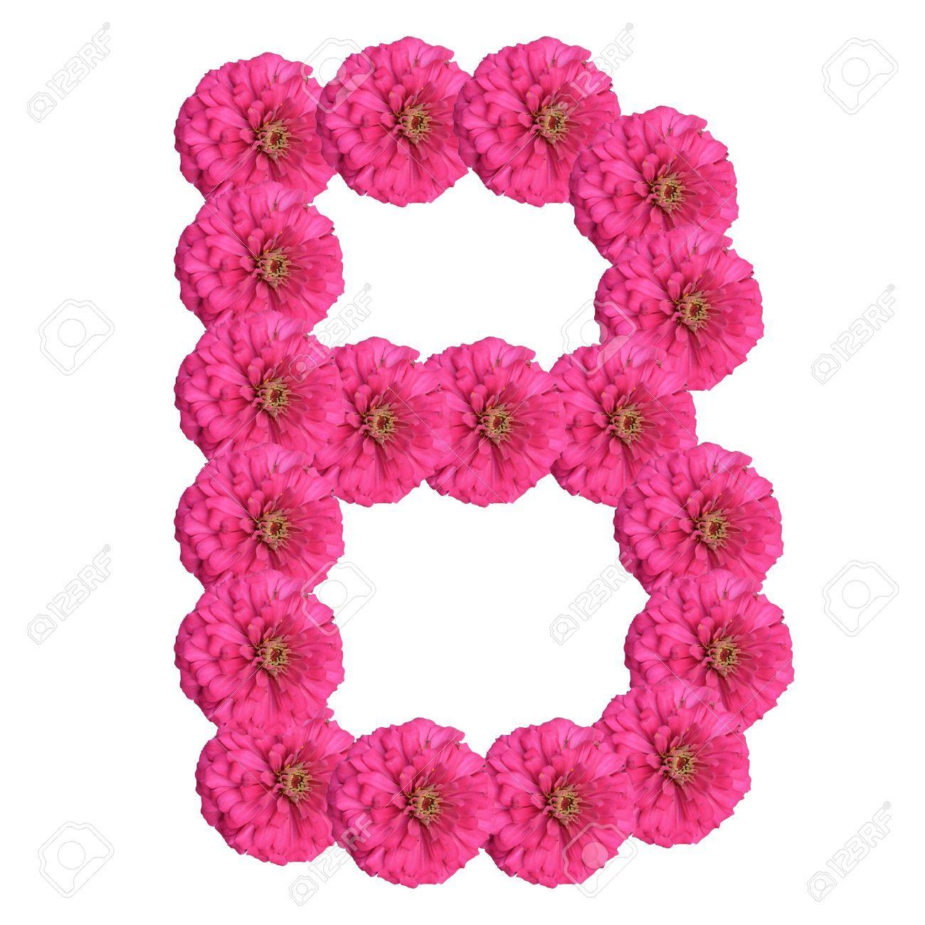 Abecedario con flores. Letra B.