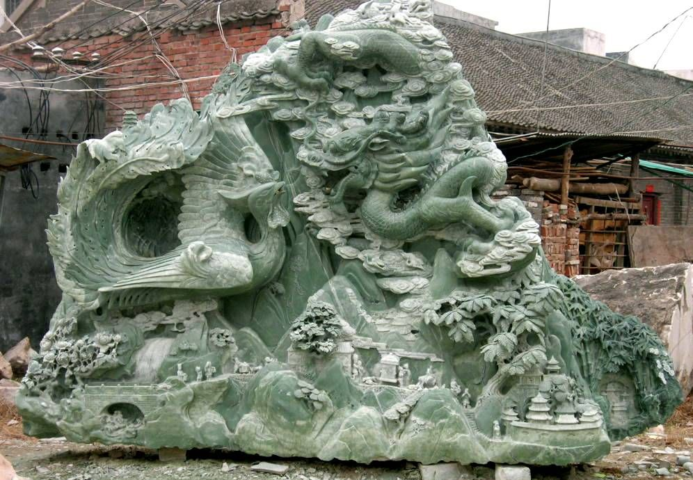 Jade sculpture carving shipping from china to us