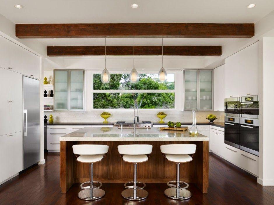 Tend ncia de cozinhas com ilha central e ilha americana for Casa moderna americana