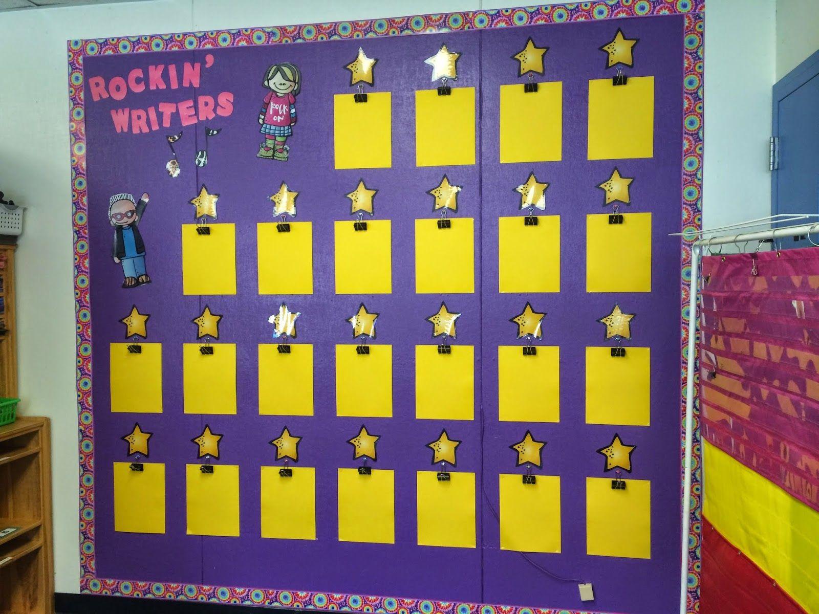 Rockin\' Writers Wall | 3rd Grade | Pinterest | Bulletin board, Work ...