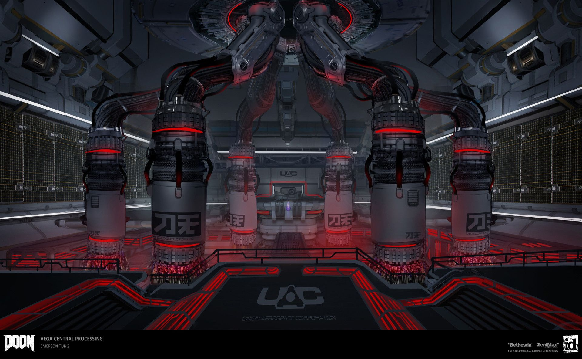 Artstation Doom Vega Central Processing Security System Room