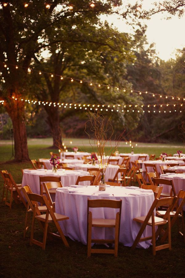 String Lights Add Casual Romance To Any Backyard Wedding