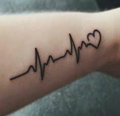Image Result For Heartbeat Tattoo Heartbeat Tattoo Name Tattoos