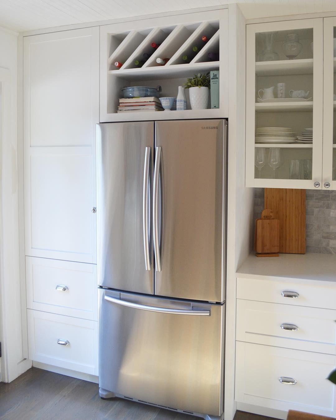 Kitchen Cabinets And Fridge Surround Boston Kitchen Remodel Small Home Kitchens Kitchen
