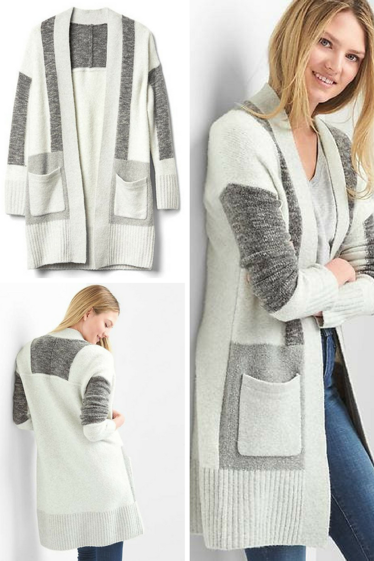 GAP - Patchwork open-front cardigan. This is so beautiful to wear ...
