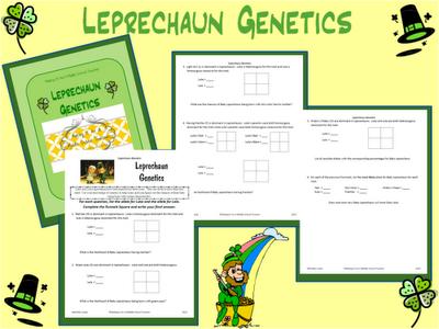 Leprechaun Genetics Genetics Worksheets And Students