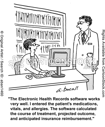 Outcome Cartoons And Comics Funny Pictures From Cartoonstock Electronic Health Records Health Information Management Medical