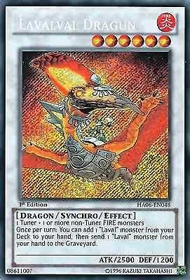 original konami yu-gi-oh! trading card lavalval dragun