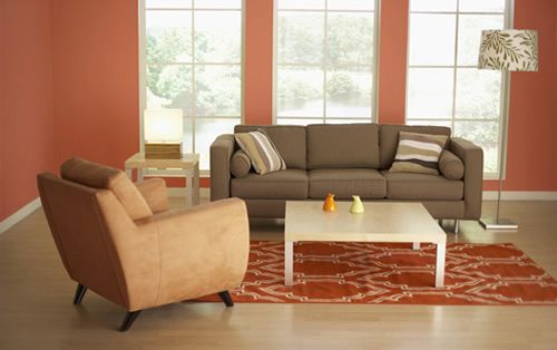 South Peach Color For Living Room
