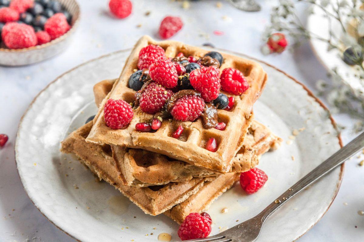 Vegan Peanut Butter Blender Waffles in 2020 Waffle