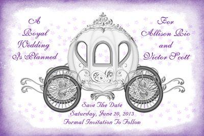 Fairytale coach save the date card royal wedding wedding ideas