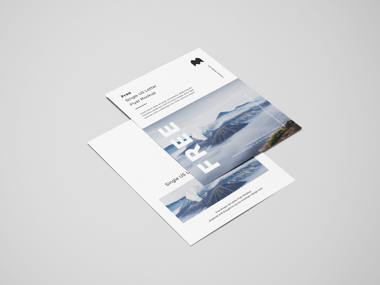 Free Single Us Letter Flyer Mockup Mockups Design Flyer Mockup Flyer Mockup Free Flyer Mockup Psd