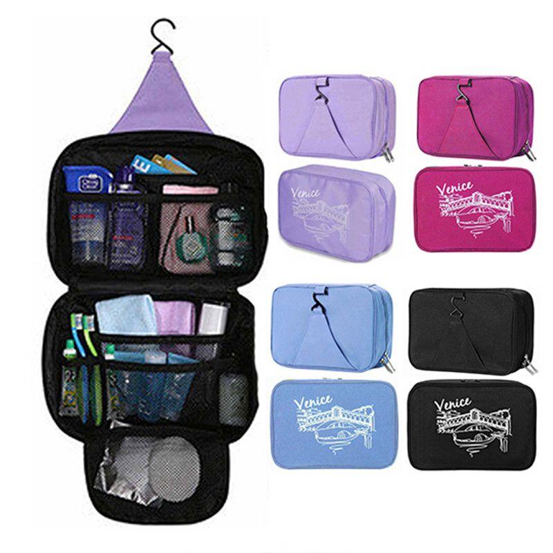 1760d3ff03b9 Women Waterproof Portable Cosmetic Bag Multifunctional Hanging Travel  Toiletry Bag Organizer Makeup Pouch Free Shipping F414