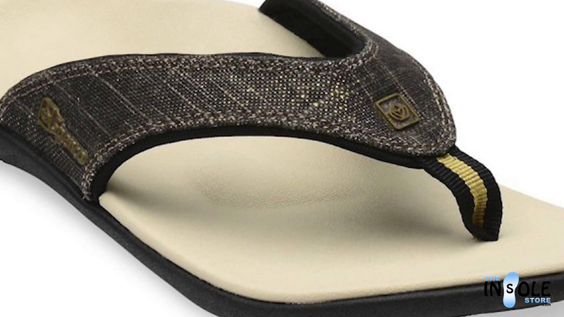 b22a7c5e011 Spenco Black Gold Yumi Canvas Sandals for Women  TheInsoleStore.com ...