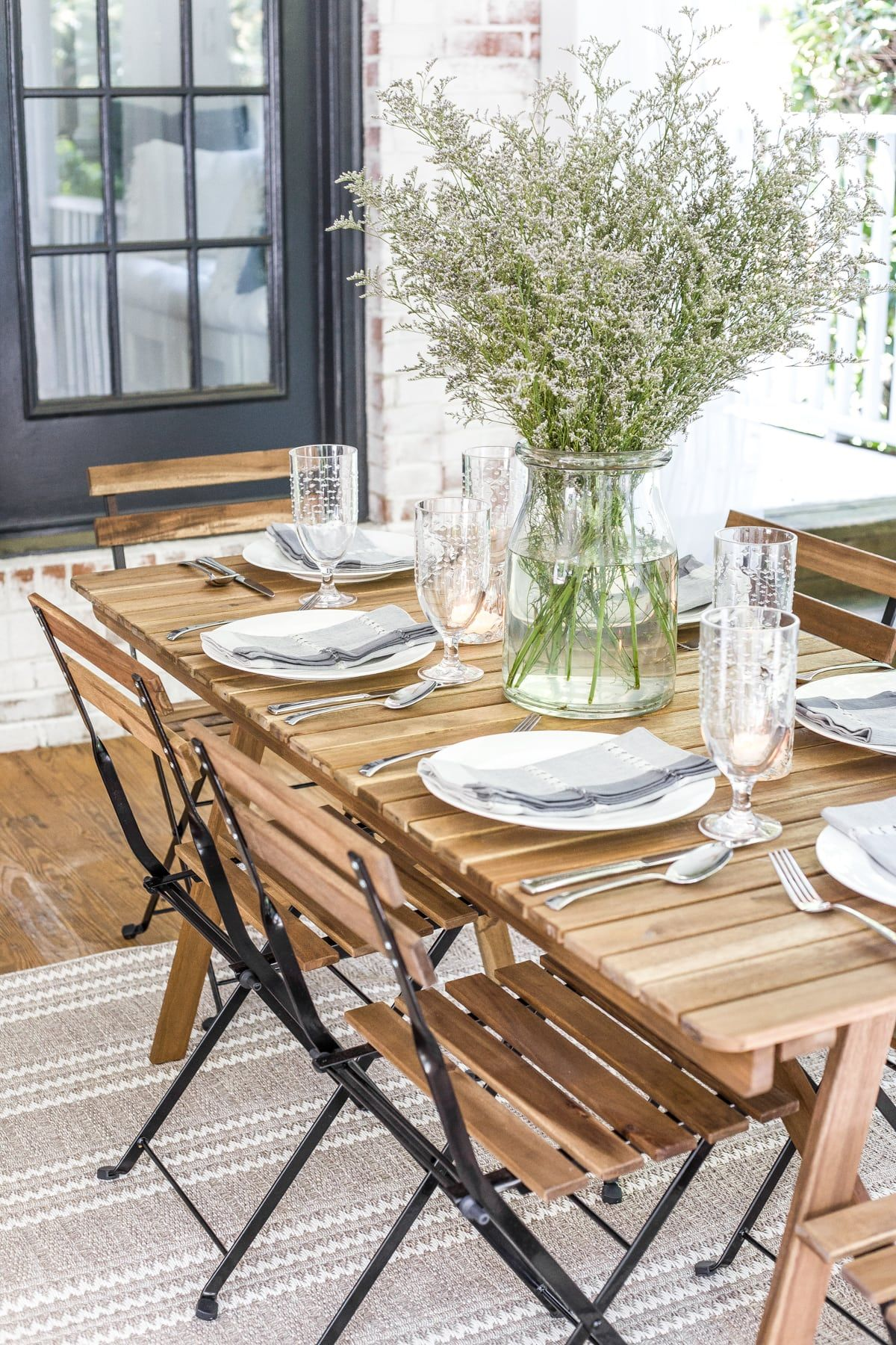 Summer Back Porch Tour Bless Er House Outdoor Dining Room Outdoor Dining Set Farmhouse Dining Rooms Decor