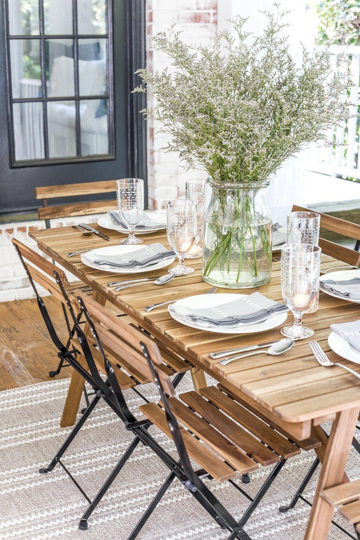 Summer Back Porch Tour Bless Er House Outdoor Dining Room Outdoor Dining Farmhouse Dining Rooms Decor
