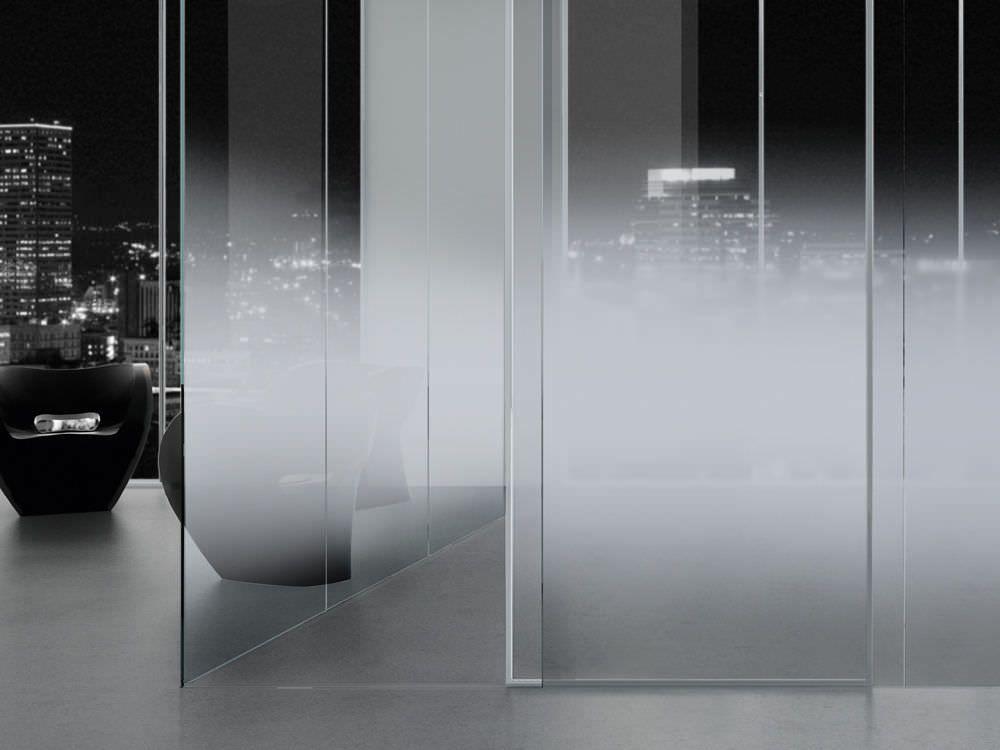 Float glass panel / progressive / polished / decorative NUVOLA 180 ...