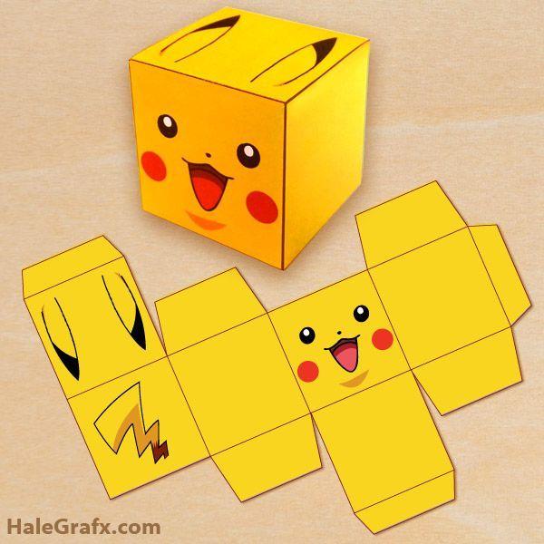 Click here to download FREE Printable Pokémon Pikachu Treat Boxes