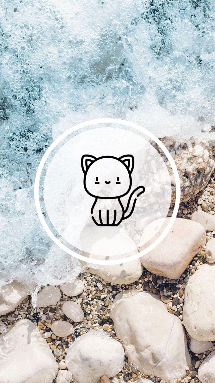 instgram highlights covers icons cat Latar belakang