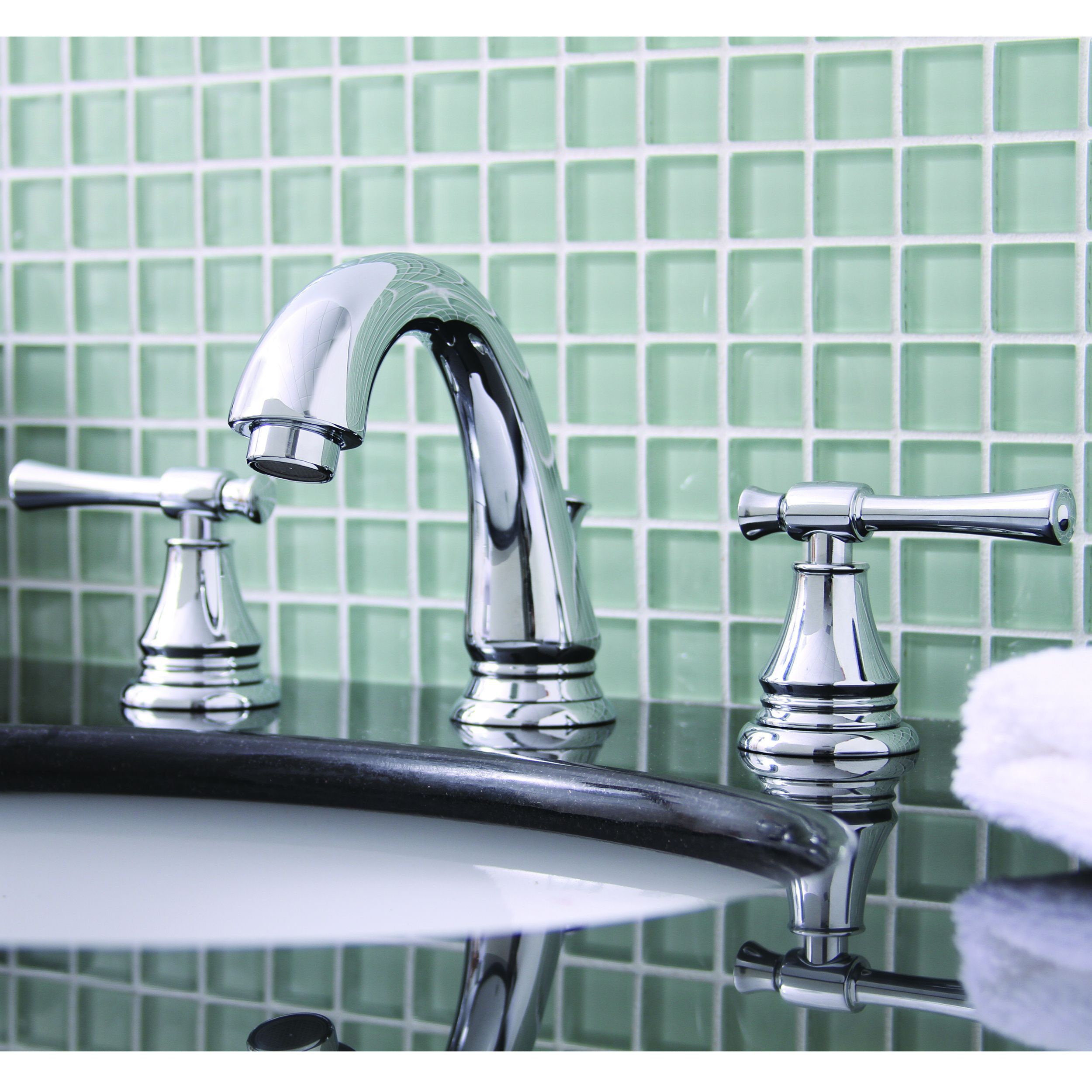 Premier Torino Lead-free Double-handle Chrome (Grey) Bathroom ...