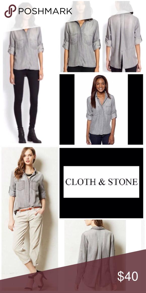 bc2e80ff774 Cloth & Stone • Split Back Button Down Shirt S - Cloth & Stone ...