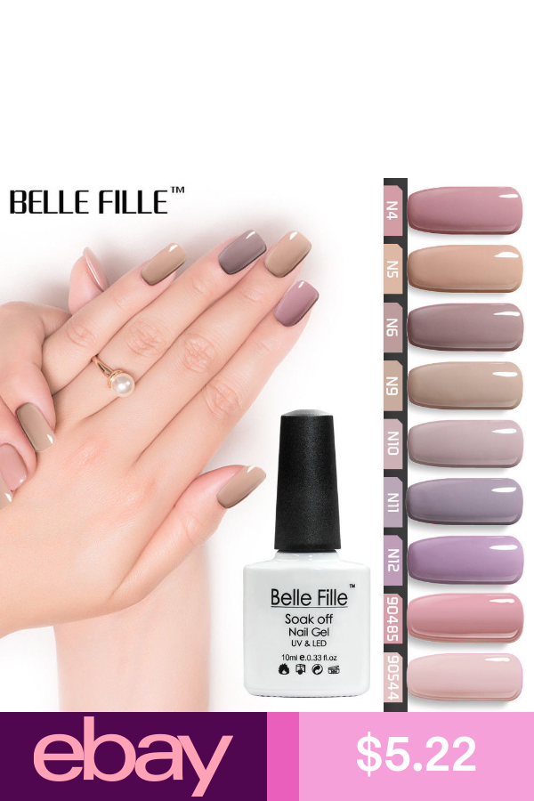 Belle Fille Nude Gel Nail Polish 12 Colors Beige Varnish