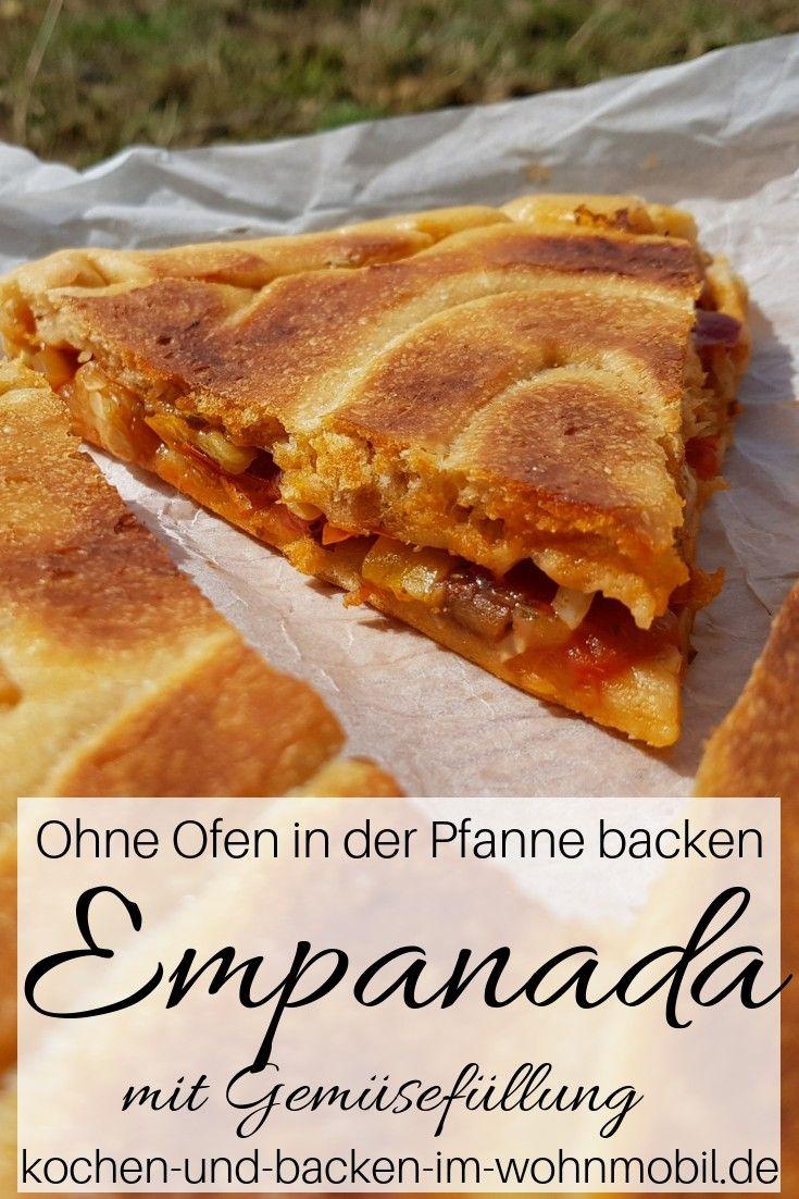 Ohne Ofen in der Pfanne backen: Spanische Empanada mit Gemüsefüllung › kochen-und-backen-im-wohnmobil.de