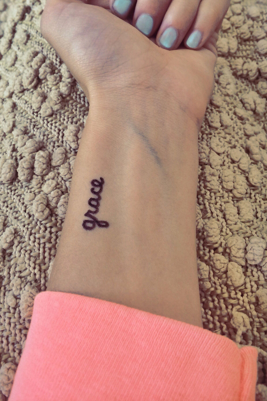 Grace Tattoo Grace Tattoos Wrist Tattoos Words Tattoos