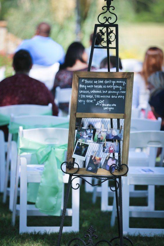 honoring loved ones wedding decor idea / http://www.deerpearlflowers.com/ways-to-honor-deceased-loved-ones-at-your-wedding/