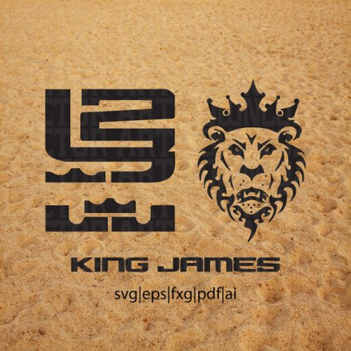 nike lebron james svg vector logo king lion download cricut