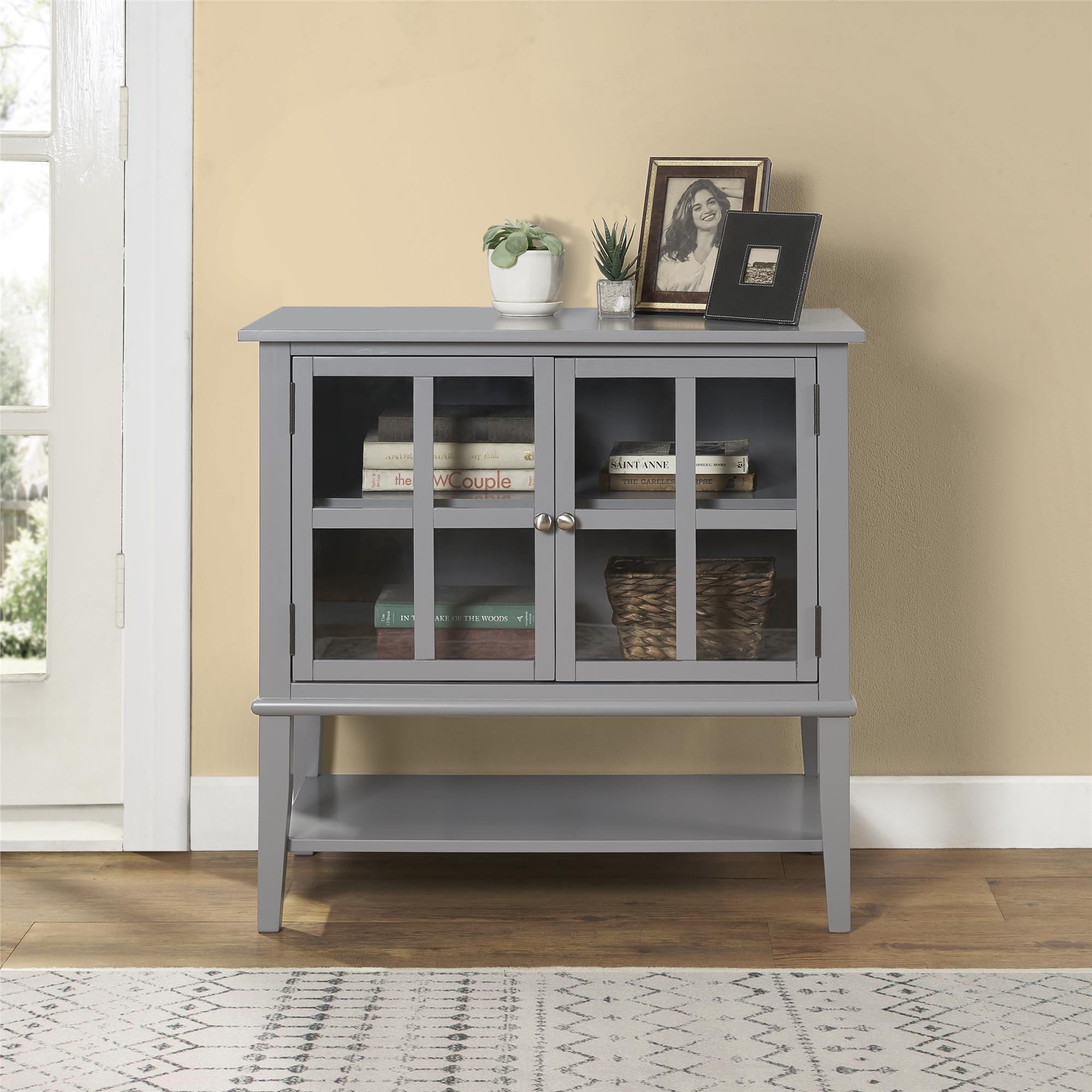 Best Isla Cottage Hill 2 Door Storage Cabinet Gray Accent 400 x 300