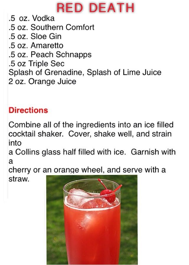 Red Death Alcohol Drink Recipes Drinks Alcohol Recipes Camping Drinks